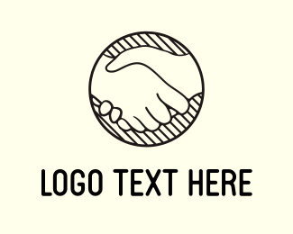 Connection - Handshake Circle logo design