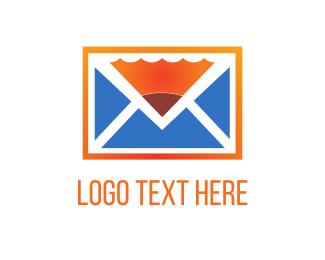 Mail - Pencil & Mail logo design