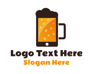 Cell Phone - Beer Application logo design