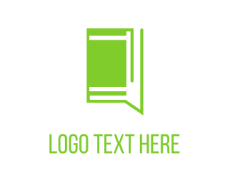 Education Green Chat Book logo design