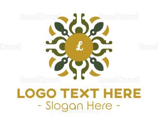 Cathedral - Luxury Golden Lettermark logo design