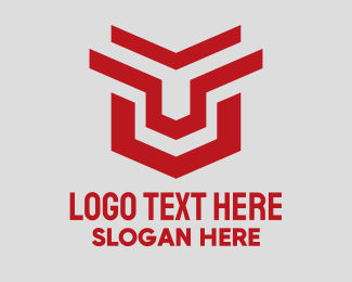 Online Security - Geometric Gaming Shield  logo design