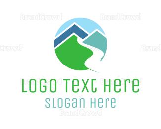 Countryside - Mountain Valley Circle logo design