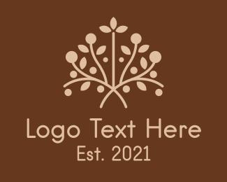 Bush - Earthy Herbal Plant logo design