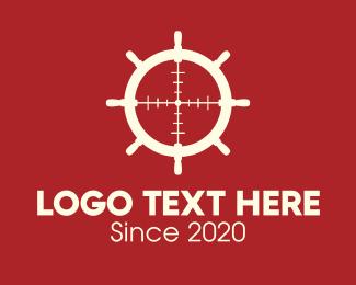 Naval - Steering Wheel Target logo design