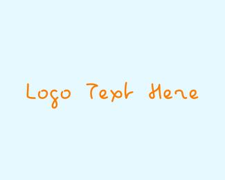 Kindergarten - Kid Handwriting logo design