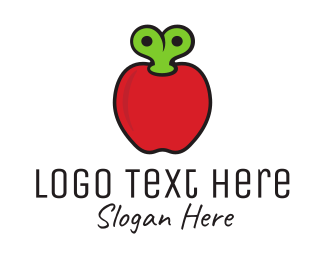 Fruity - Apple Kids Toy logo design
