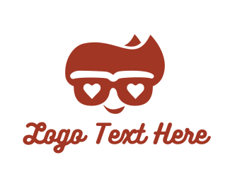 Cool Hipster Geek Logo