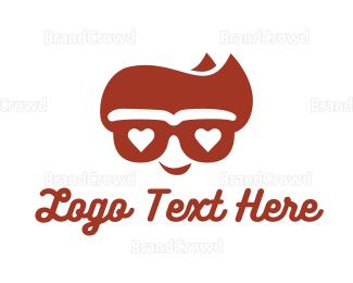 Dude - Cool Hipster Geek logo design