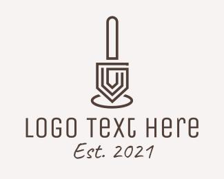 Linework - Minimalist Trowel  logo design