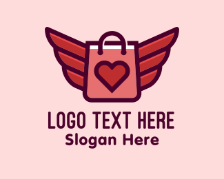 Love Heart - Love Wings Boutique  logo design
