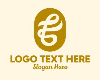 Fashion Accessories - Cursive Gold Letter F logo design