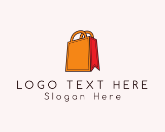 Shopify - Orange Bag logo design