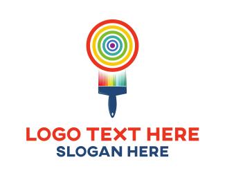 Mardi Gras - Target Paint logo design