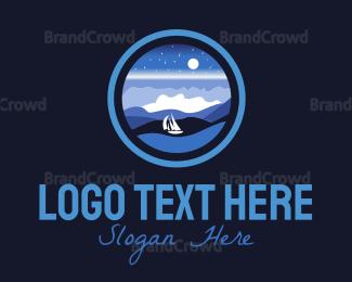 Creek - Ocean Night logo design