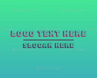 Shadow - Gradient Wordmark logo design