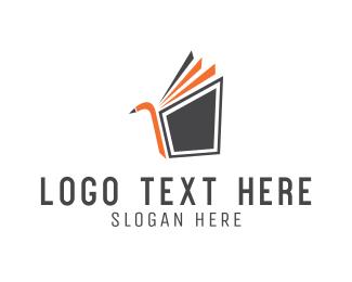 Book Club - Bird Book logo design