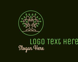 Sans Serif - Tree Of Life Badge logo design