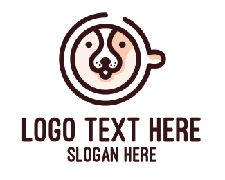 Doggie - Dog Cafe Coffee logo design