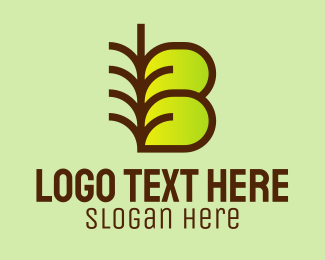 Organic Products - Natural Letter B  logo design