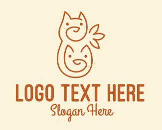 Cats - Minimalist Cute Cats  logo design