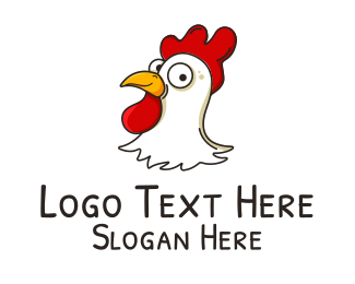 Chicken Nugget - Chicken Head  logo design