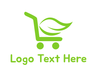 Trolley - Organic Cart logo design