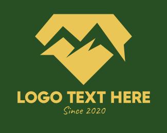 Mine - Gold Diamond Mountain logo design