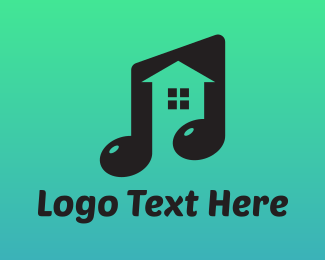 Musical Note House Logo