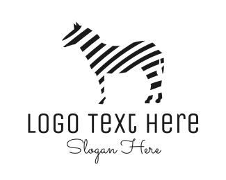 """Striped Zebra"" by LogoBrainstorm"