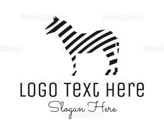 """Striped Zebra"" by LogoBrainstorm"