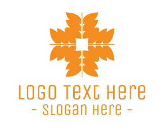 Wheat Flour - Orange Wheat Grains logo design