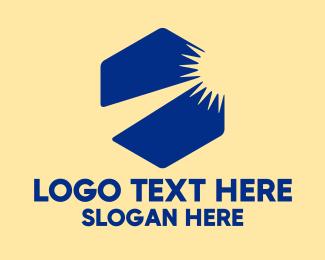 Sunrise - Blue Hexagon Sunrise logo design