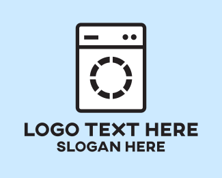 Clean - Washing Machine logo design