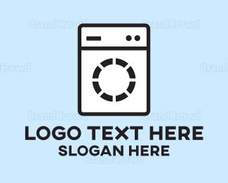 Dry Cleaner - Washing Machine logo design