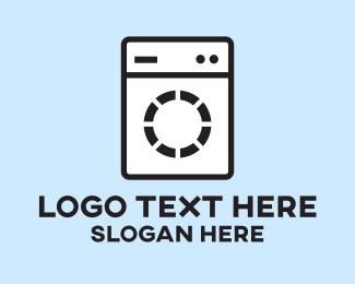 Machine - Laundromat Washing Machine logo design