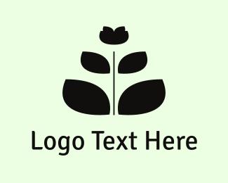 Meditate - Black Flower logo design