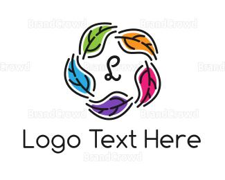 Meditation - Colorful Leaf Lettermark logo design