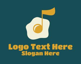 Restaurant - Egg Yolk Musical Note logo design