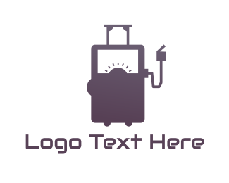 Gas Station - Automotive Petrol Pump logo design