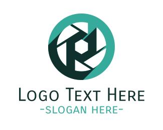 Letter P - Camera Shutter logo design