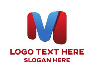 Letterform - M & V logo design