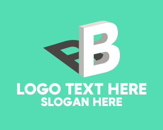 Construction Company - 3D Letter B logo design