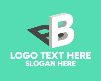 Tagline - 3D Letter B logo design