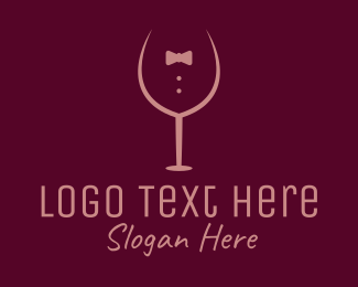 Lounge Bar - Elegant Winery Glass logo design