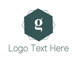 Designer - Blue G Hexagon logo design