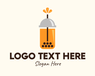 Bubble Tea - Modern Tea Drink logo design