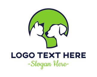 Vet - Pet Green Circle logo design