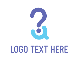 Question - Purple Question Mark logo design