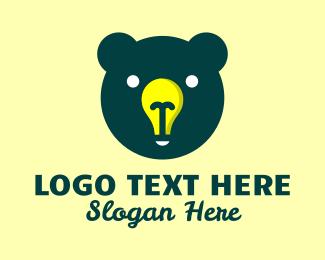 Light - Bear Head Light logo design